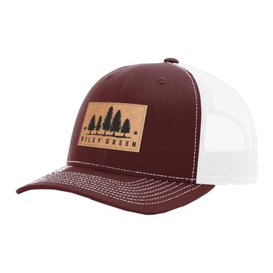 Riley Green Patch Hat - Maroon