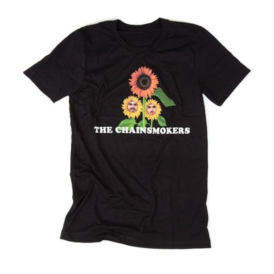 The Chainsmokers Black Flower Tee