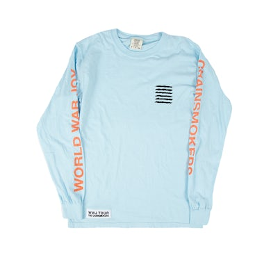 The Chainsmokers Light Blue Album Cover Long Sleeve