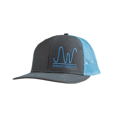Aaron Watson AW Charcoal/Blue Brand Hat
