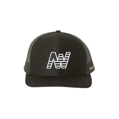 Aaron Watson Black and White Flag Hat