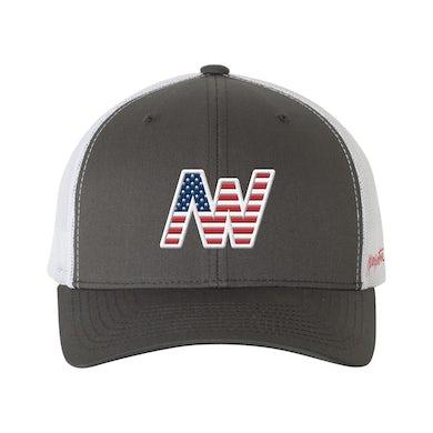 Aaron Watson Charcoal American Flag Hat