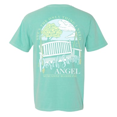 Muscadine Bloodline Chalky Mint Porch Swing Angel Tee