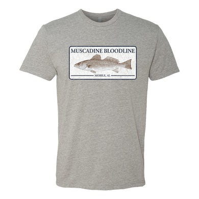 Muscadine Bloodline Grey Fish Tee