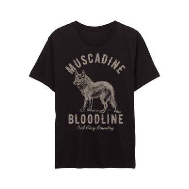 Muscadine Bloodline Red Clay Country Black Tee