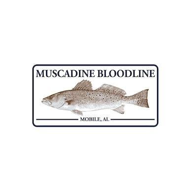 Muscadine Bloodline Fish Sticker