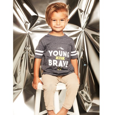 Young But Brave Grey Kids T-Shirt