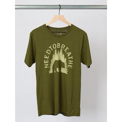 NEEDTOBREATHE Bear In The Woods Army Green Tee