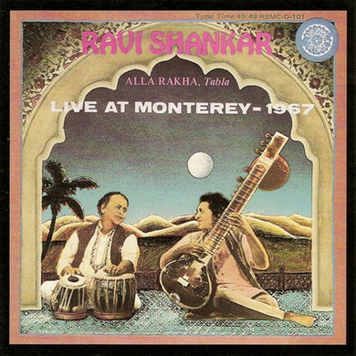 Ravi Shankar LIVE 67 MONTEREY CD