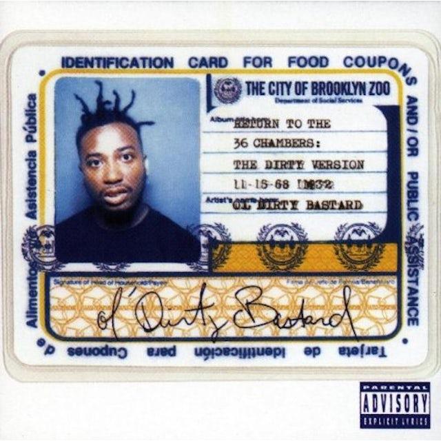 Ol Dirty Bastard RETURN TO THE 36 CHAMBERS (DIRTY) CD