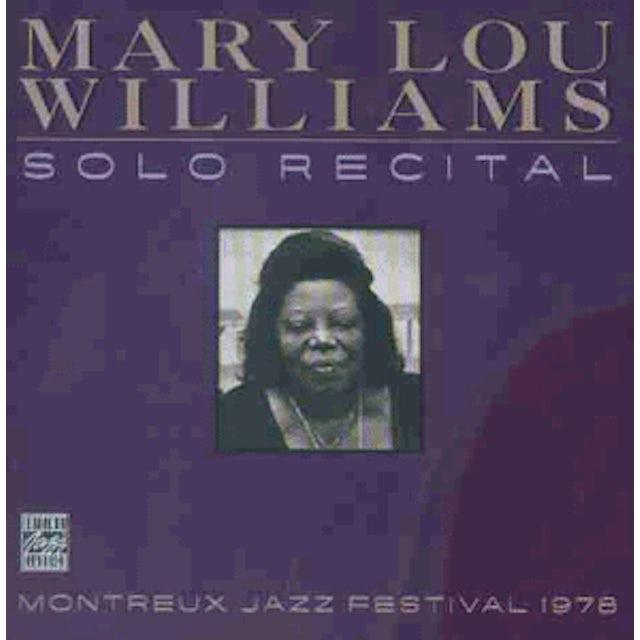 Mary Lou Williams SOLO RECITAL: MONTEREY JAZZ FESTIVAL 1978 CD