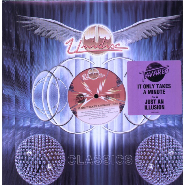 Tavares IT ONLY TAKES A MINUTE / JUST AN ILLUSION Vinyl Record
