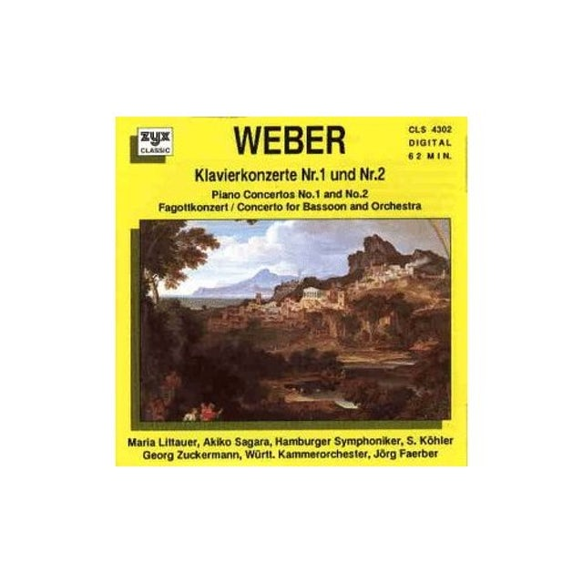 Weber PIANO CONCERTOS/BASSOON CONCERT CD