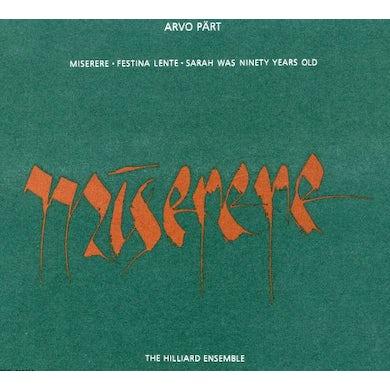 Arvo Part MISERERE CD