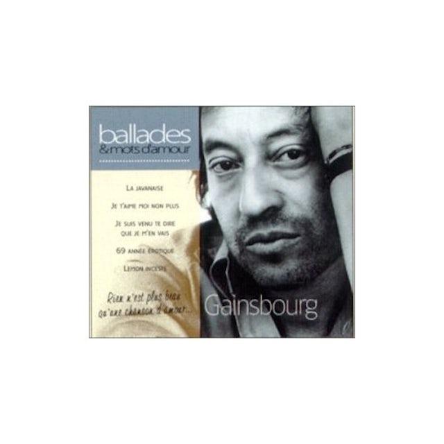 Serge Gainsbourg BALLADES & MOTS D'AMOUR CD