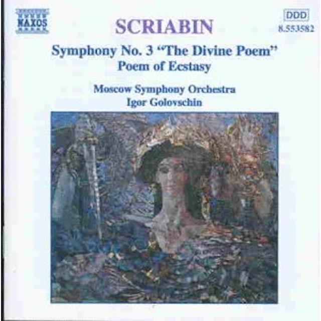 Scriabin SYMPHONY 3 & POEM OF ECSTASY CD