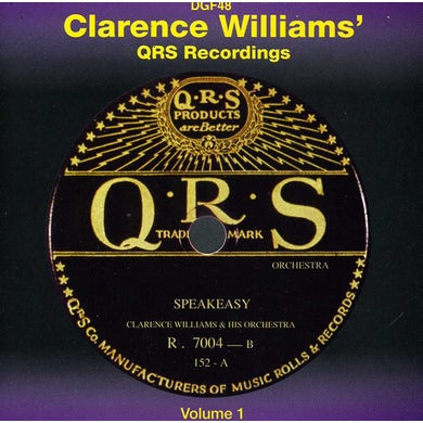 Clarence Williams QRS RECORDINGS 1 CD
