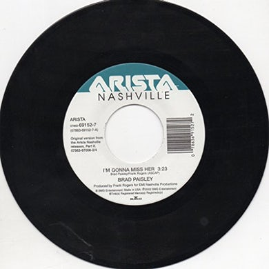 Brad Paisley I'M GONNA MISS HER / I WISH YOU'D STAY Vinyl Record