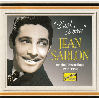 Jean Sablon C'EST SI BON CD