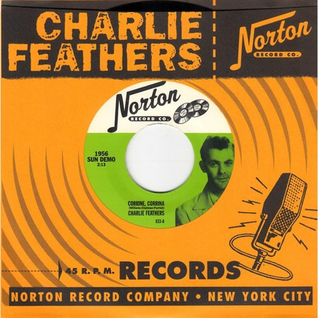 Charlie Feathers CORRINE CORRINA / RUNNIN AROUND Vinyl Record