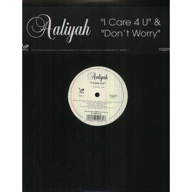 Aaliyah I Care 4 U Don T Worry Vinyl