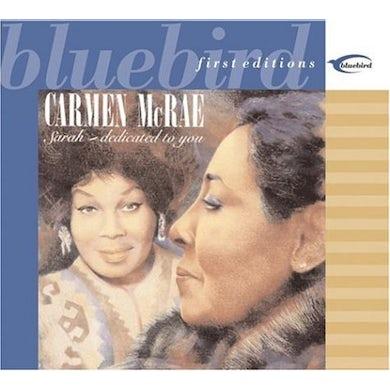 Carmen McRae SARAH: DEDICATED TO YOU CD