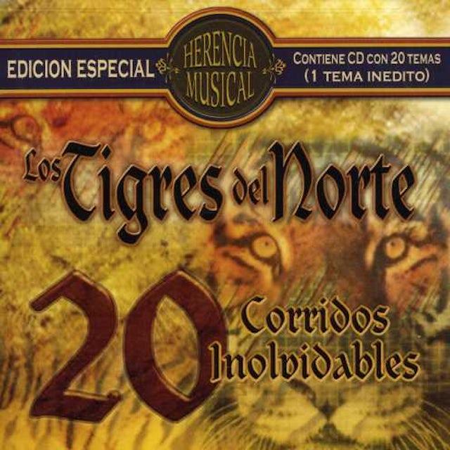 TIGRES DEL NORTE HERENCIA MUSICAL: 20 CORRIDOS CD