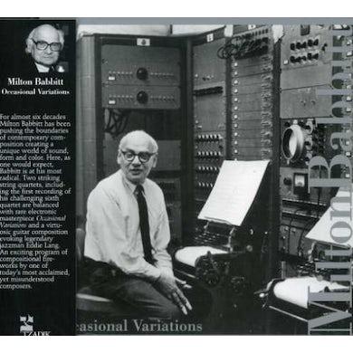 Milton Babbitt OCCASIONAL VARIATIONS CD