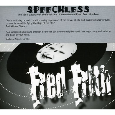 Fred Frith SPEECHLESS CD