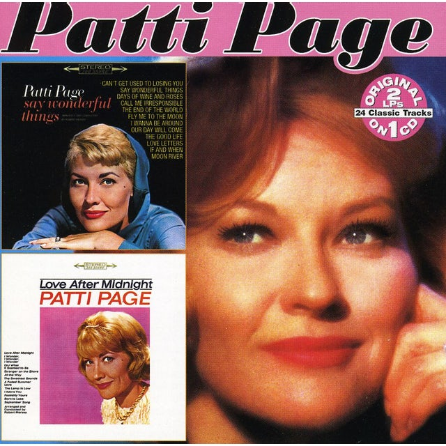 Patti Page SAY WONDERFUL THINGS: LOVE AFTER MIDNIGHT CD
