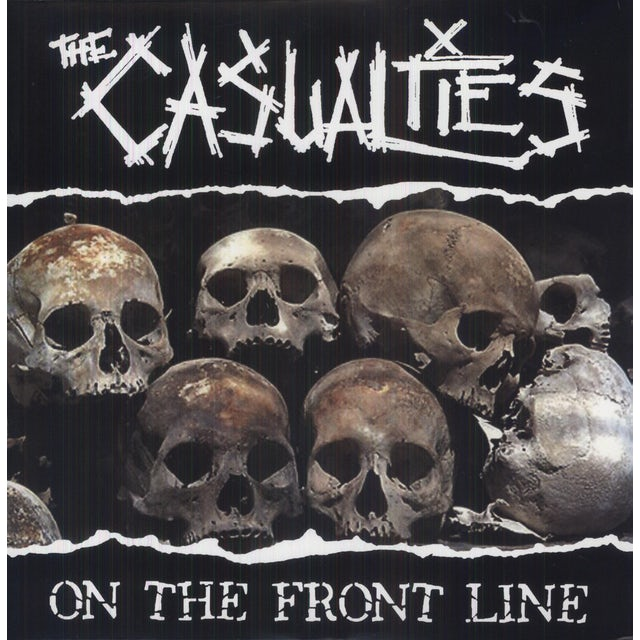 The Casualties ON THE FRONT LINE Vinyl Record