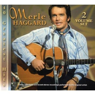 Merle Haggard 40 GREATEST HITS CD