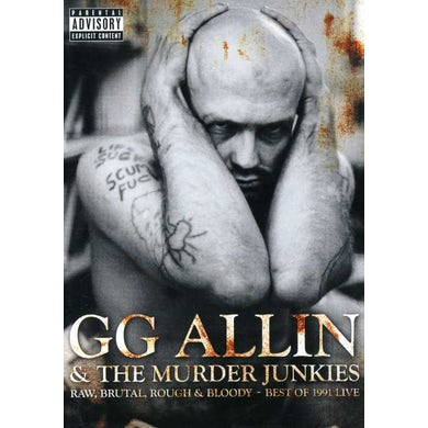 Gg Allin RAW BRUTAL ROUGH & BLOODY: BEST OF 1991 LIVE DVD