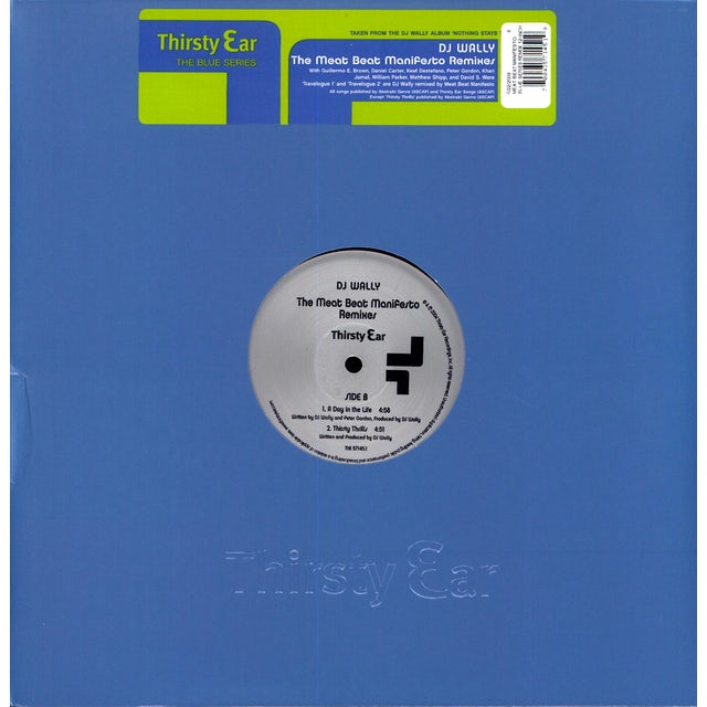 Meat Beat Manifesto BLUE SERIES REMIX Vinyl Record