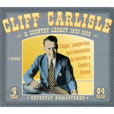Cliff Carlisle COUNTRY LEGACY CD