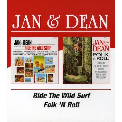 Jan & Dean RIDE THE WILD SURF / FOLK N ROLL CD