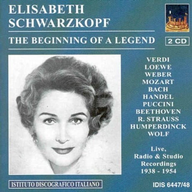 Elisabeth Schwarzkopf BEGINNING OF A LEGEND CD
