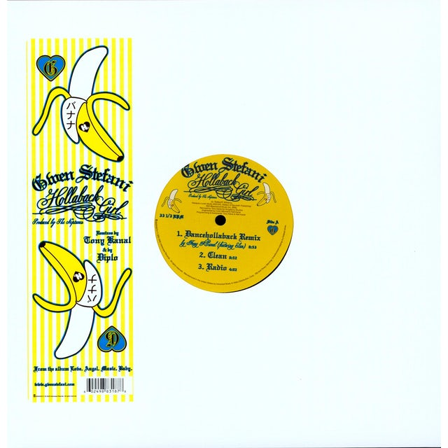 Gwen Stefani HOLLABACK GIRL REMIXES (X6) Vinyl Record - Remixes