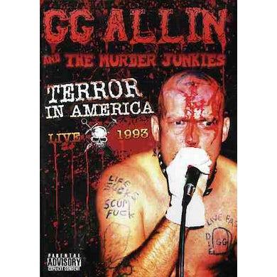 Gg Allin TERROR IN AMERICA: LIVE 1993 DVD