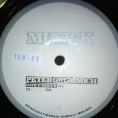 Peter Grummich RAVE D'AMOUR Vinyl Record