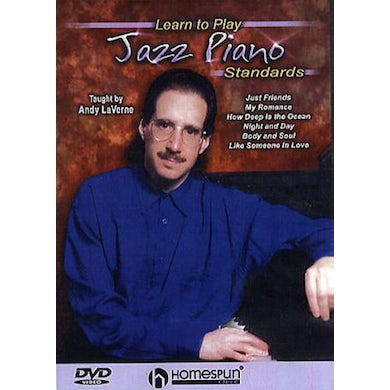 Andy LaVerne LEARN TO PLAY JAZZ PIANO STANDARDS DVD