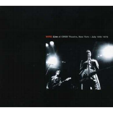 Wire LIVE AT THE ROXY / LIVE AT CBGB THEATRE CD