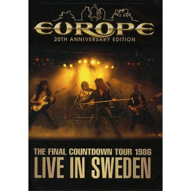 Europe FINAL COUNTDOWN TOUR: LIVE IN SWEDEN 1986 DVD