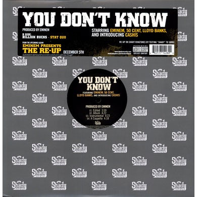 Eminem YOU DON'T KNOW (X4) (Vinyl)