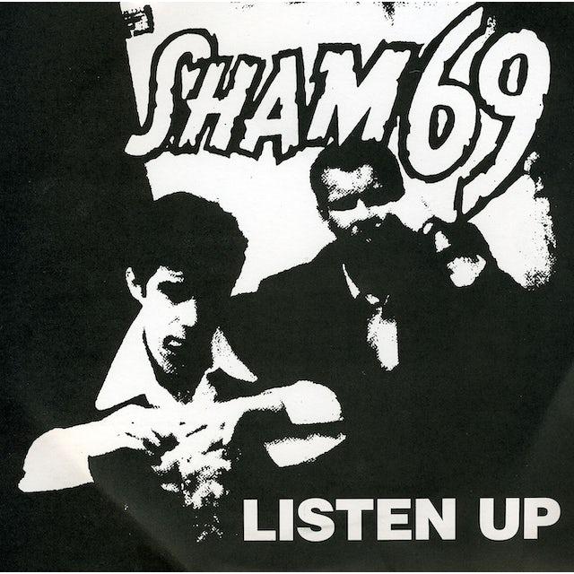 Sham 69 LISTEN UP Vinyl Record