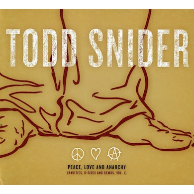 Todd Snider PEACE LOVE & ANARCHY CD