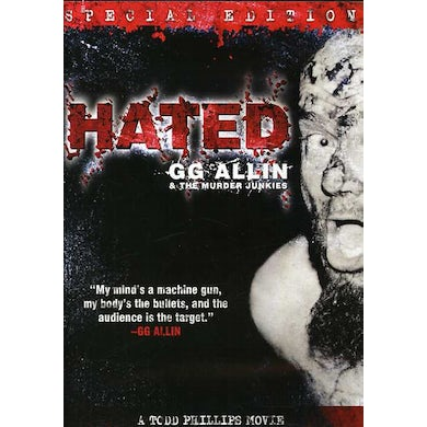 Gg Allin HATED: SPECIAL EDITION DVD