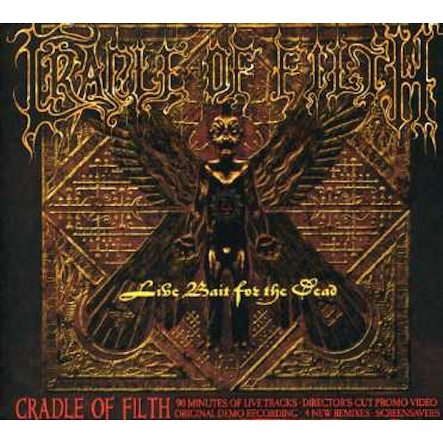 Cradle Of Filth LIVE BAIT FOR THE DEAD CD