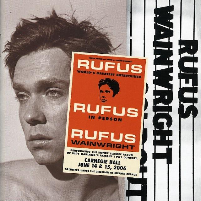 Rufus Wainwright RUFUS DOES JUDY AT CARNEGIE HALL CD