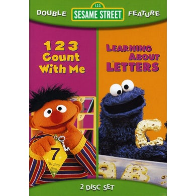 Sesame Street 123 COUNT WITH ME / LEARNING ABOUT LETTERS DVD